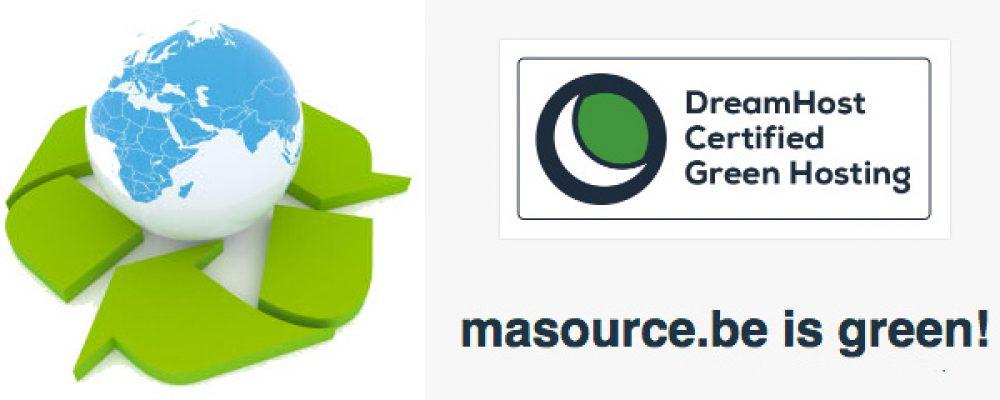 Le site masource.be est 100% vert, explication ici.